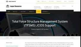 Total Force Structure Management System (TFSMS) JCIDS ...
