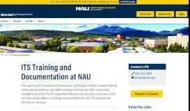 Training & Documentation - Northern Arizona University