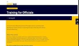 Training for Officials   Sport Australia