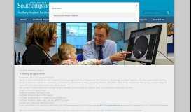 Training Programme - University of Southampton Auditory Implant ...