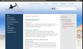 Transparency Portal   McKinley County, NM