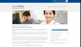 Transportation Providers | Access2Care
