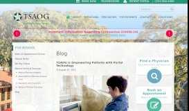 TSAOG is Empowering Patients with Portal Technology   The San ...