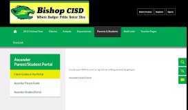 txConnect / Check Grades in the Portal - Bishop CISD