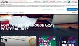 UCAS Postgraduate Application - How To Apply | UCAS