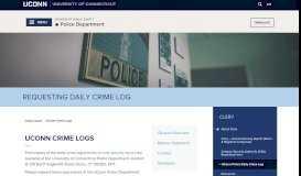 UConn Crime Log   Division of Public Safety