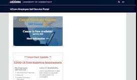 UConn Employee Self Service Portal: Home