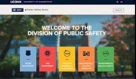 UCONN Public Safety - University of Connecticut