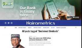 Unclaimed Dividends Archives | Nairametrics