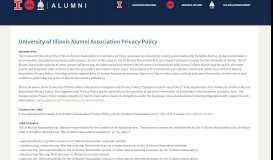 University of Illinois Alumni Association Privacy Policy UI ...