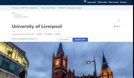 University of Liverpool - Complete University Guide