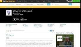 University of Liverpool   Postgraduate   Top Universities