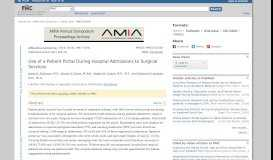 Use of a Patient Portal During Hospital Admissions to Surgical Services