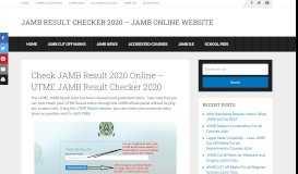 UTME JAMB Result Checker 2019: Check JAMB Result 2019 Online
