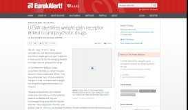 UTSW identifies weight-gain receptor linked to antipsychotic drugs ...