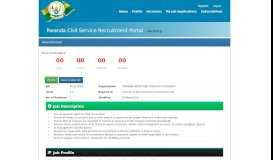 Vacancy - Rwanda Civil Service Recruitment Portal - Vacancy Details
