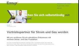 Vertriebspartner für Strom- und Gasprodukte werden - Ennux