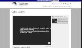 Video Gallery   Centennial Elementary School