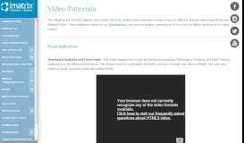 Video Tutorials - iMatrix Support | Website Help & Troubleshooting
