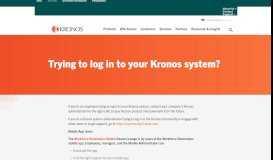 Visit our login help page - Kronos