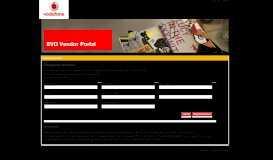 Vodafone Portal for Vendors