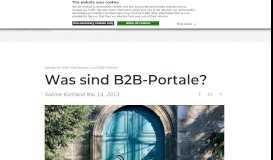 Was sind B2B-Portale und was bieten sie? | PARK7 | - PARK 7 GmbH