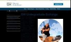 Waseda University   Office for Study Abroad   The George Washington ...