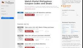 Watch Portal Philippines Coupon May 2019 - ILoveBargain