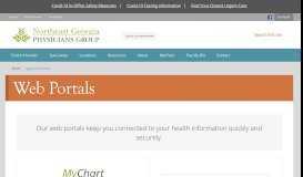 Web Portals - Northeast Georgia Physicians Group