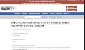Websites: Homeschooling: Schools: Colorado Tuition-Free Online ...