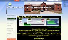 Welcome ! .::Delta State College Of Health Technology, Ofuoma ...