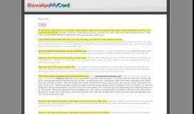 Welcome to RevalueMyCard.com!