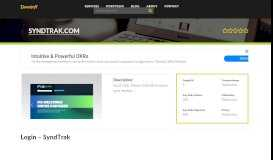 Welcome to Syndtrak.com - Welcome to SyndTrak
