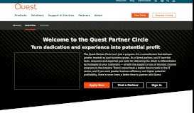 Welcome to the Quest Partner Circle for software sales