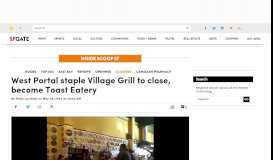 West Portal staple Village Grill to close, become Toast Eatery - Inside ...