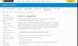 What is a disability? - Current Students