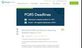 Which 2016 PQRS and Medicare Reporting Deadlines Apply to You?