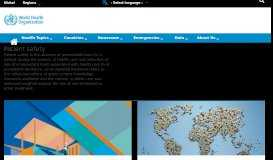 WHO | Patient safety - World Health Organization