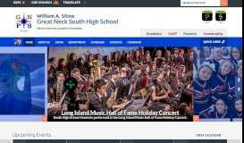 William A. Shine - Great Neck South High School / Homepage