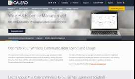 Wireless Expense Management & Optimization Software   Calero