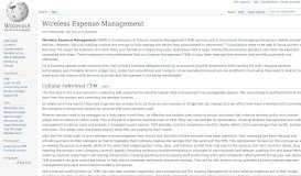 Wireless Expense Management - Wikipedia