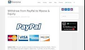 Withdraw from PayPal to MPESA and Equity in Kenya - 2018 - Bizanosa