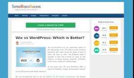 Wix vs WordPress   Head-to-Head Comparison