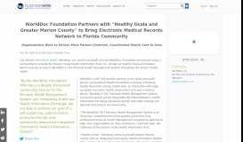 WorldDoc Foundation Partners with ''Healthy Ocala and Greater ...