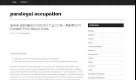 www.privateloanservicing.com – Payment Center First ...