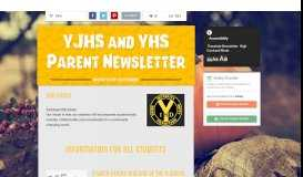 YJHS and YHS Parent Newsletter   Smore Newsletters for Education
