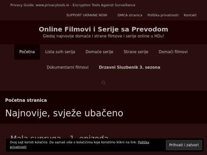 Sajtovi za besplatno gledanje filmova i serija sa prevodom