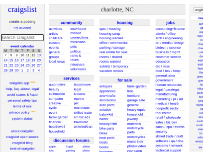 Craigslist charlotte www com eastern NC