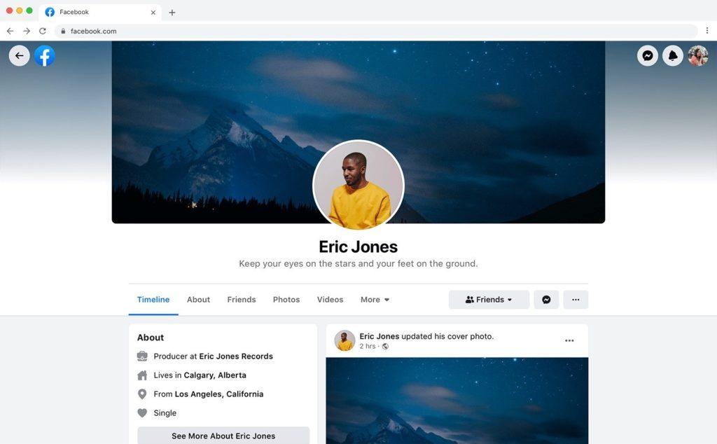 novo perfil usuario 2020