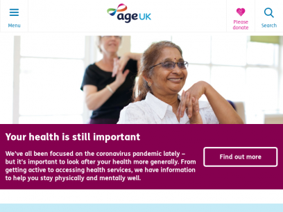 Age UK | The UK's leading charity helping every older person who needs us